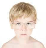 Child in eyeglasses. Close up portrait Stock Photo