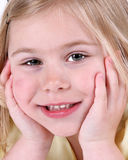 Child face royalty free stock photo