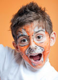 Child face paint Royalty Free Stock Images