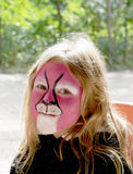 Child with face painted Royalty Free Stock Photo