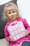 Child with face painting. Child preschooler with face painting Stock Photography
