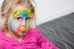 Child with face painting Stock Photos