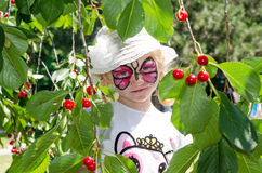 Child with face painting. Blond girl with face painting royalty free stock images