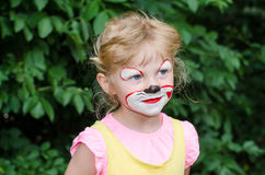 Child with face painting Royalty Free Stock Image