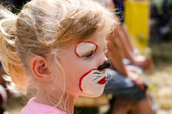 Child with face painting Stock Image