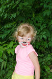Child with face painting Royalty Free Stock Photography