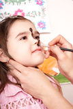 Child with face painting.Make up. Royalty Free Stock Image
