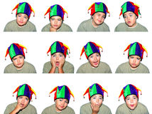 Child faces. Funny child isolated on white background (series Stock Image