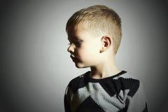 Child.fashion kids.children.little boy.profile Stock Photo