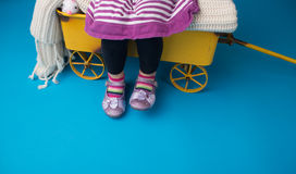 Child Fashion : Shoes and Dress Stock Image