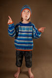 Child fashion sweater Stock Image