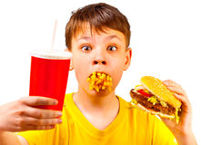 Child and fast food Stock Photo