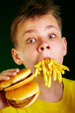 Child and fast food. Stock Image