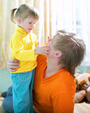 Child with father Royalty Free Stock Photos