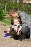 Child and father Royalty Free Stock Photos