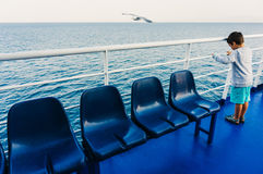 Child on a ferryboat Stock Photography