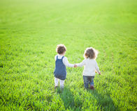 Child in field Stock Image