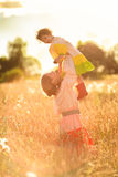 Child in a field of wheat Royalty Free Stock Photos