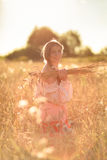 Child in a field of wheat Royalty Free Stock Photo