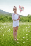 Child in field Royalty Free Stock Photography