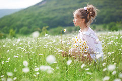 Child in field Royalty Free Stock Image