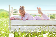 Child in field Royalty Free Stock Photos