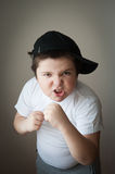 Child fight boxing agression kid boy Royalty Free Stock Images