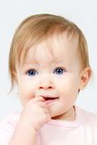 Child With Finger in Mouth Royalty Free Stock Images