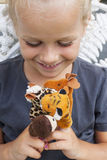 Child with finger puppets Stock Photography