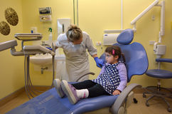 Child - First visit to the Dentist Royalty Free Stock Image