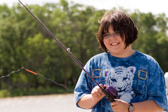 Child Fishing Royalty Free Stock Photo