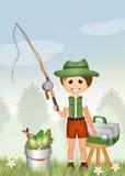 Child fishing Royalty Free Stock Photos