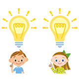 Child, flash. It looks like I imagine it, and children flash in the various things Stock Image
