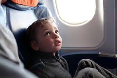 Child on the flight Stock Photography