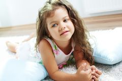 Child on the floor Royalty Free Stock Photography
