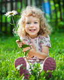 Child with flower Stock Image