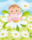 Child with a flower Stock Images