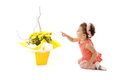 Child and Flower royalty free stock images