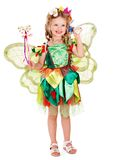 Child with flower and butterfly. Royalty Free Stock Photos