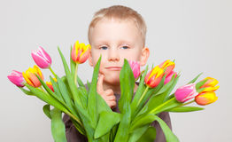 Child flowers Stock Images