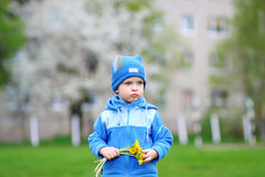 Child and Flowers Stock Photos