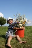 Child and Flowers Royalty Free Stock Images