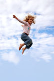 Child flying Royalty Free Stock Images
