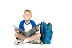 Child with a Folder Stock Photos