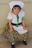 Child  in folk dress. A photo of a beautiful child with traditional dress of Cilento (a zone of South Italy Stock Photo