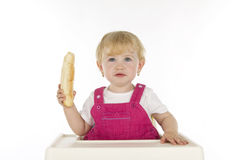 Child with food. Royalty Free Stock Image