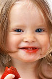 Child with food. royalty free stock images