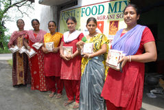 Child Food For Health. Child food production unit.They making food for the poor children at minimum price Stock Photo