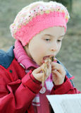 Child with food Royalty Free Stock Image