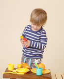 Child with Food, Nutrition concept Stock Images